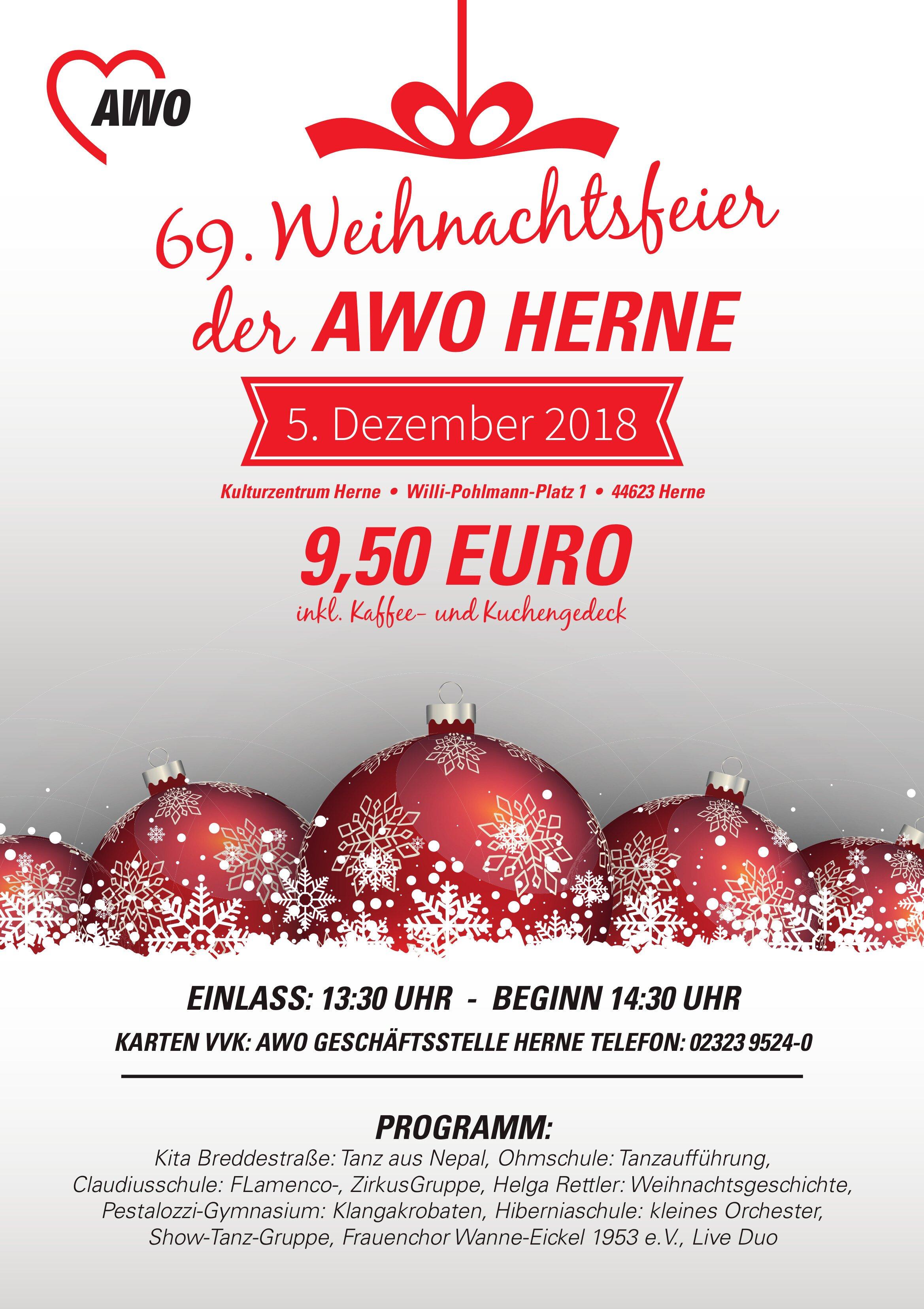 Angebot Weihnachtsfeier.Termin Details Arbeiterwohlfahrt Awo